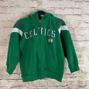 Boys NBA Celtics full zip hoodie size medium 8/10